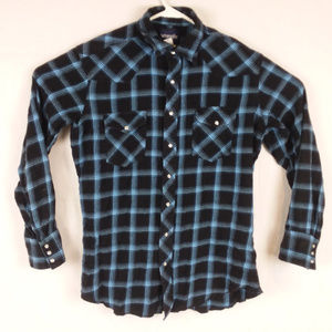 Wrangler Flannel Large Tall Country Pearl Snap